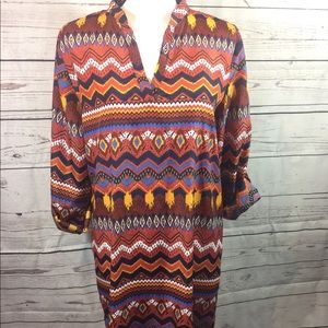 ALMOST FAMOUS MULTICOLOR HIGH/LOW TUNIC